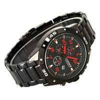 new Men boys Steel belt Fashion style business big color data dial quartz wrist watch outdoor sports #L05500