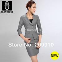 2014 Spring and Autumn Fashion Elegant Elbow-length sleeve half sleeve plus size 3XL 3 pcs suit career et