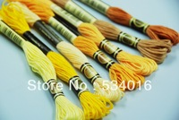 Similar DMC embroidery floss cross stitch  threads skeins in DMC color number  1lot=35pcs =35colors  CXC Floss two labels 8m