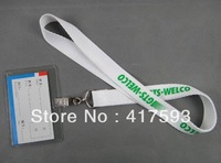 PROMOTION!!!Free shipping 50pcs/lot custom business event party neck lanyard strap with your own logo text imprint cheap strap