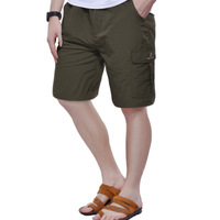 Ps3055 Men casual outdoor quick-drying pants quick dry knee-length pants shorts moisture wicking quick dry breathable