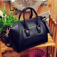 HOT SALING! 2013 New women handbag fashion brief crocodile pattern shoulder messenger bag leather bag free shipping