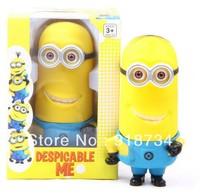 Despicable me 3D Monocular Cartoon Kids Toys Gift steal coin piggy bank kitty saving money box / coin bank/ money bank