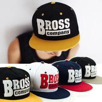 2014 Adjustable Hip Hop BROSS Letter Snapback Caps Hats Baseball Caps For Men and Woman patchwork flat hats