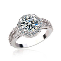 2 carat Swiss Cubic Zirconia  Engagement Rings Top Quality CZ Rings for Women