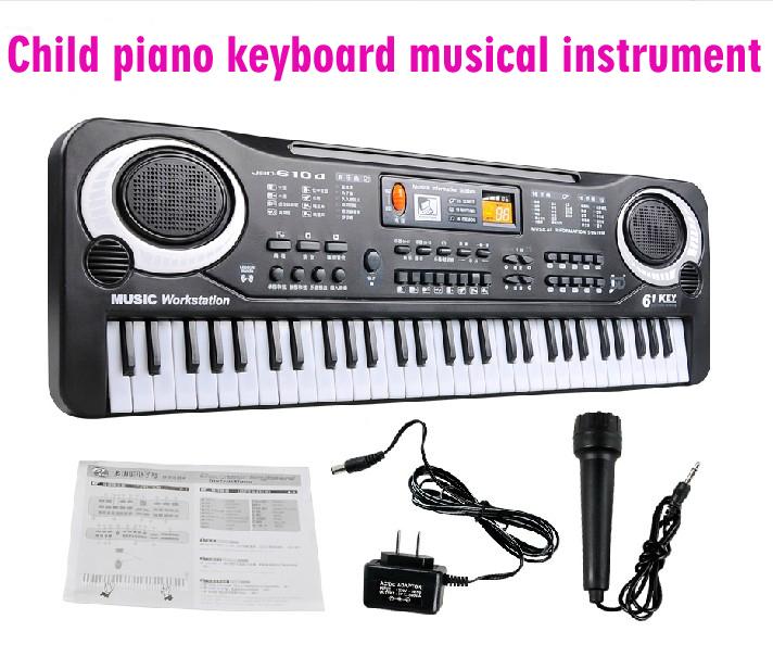 New Electronic educational toys piano 61 key child electronic organ child piano keyboard musical instruments toy Free shipping(China (Mainland))
