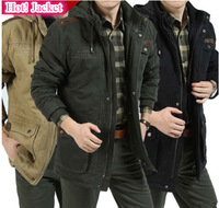New 2013 Brand Men's Winter Jacket, jackets for men, outdoor jacket Coat, M- 3XL, Black/Army greebn/Khaki, Free Ship