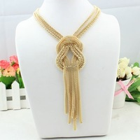 Jewerly wholesale European and American fashion popular hot sell chain tassel necklace chain necklace wholesale free shipping!