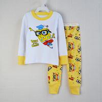 girl lovely cartoon character sponge bob pajamas baby cotton sleepwear long sleeve 2-7years retail