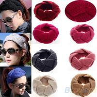 Fashion 1Pc New Crochet Twist Knitted Headwrap Headband Winter Warmer Hair Band for Women Accessories 054J