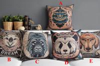 """Kim Store! Creative Tarot Animals Style Home Decorative Cushion, Office Cartoon Throw Pillow Lumbar Pillow 17""""*17"""" (with filler)"""