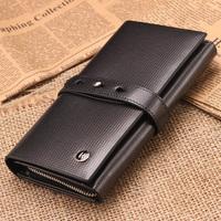 Long design wallet male cowhide hasp wallet male long wallet card holder bag