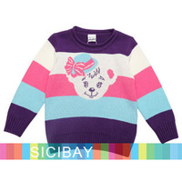 2014 Girls Kids Winter  Pullovers  Knitwear Bright Color  Long Sleeve Sweaters, Free Shipping K4345