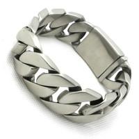 Top Quality 182g Huge Dull Polish Design Bracelet&Bangle Biker Chain 316 Stainless Steel Amazing Bracelet Valentine's Day Gift