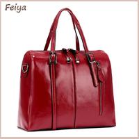 Luxury 2015 New  Wax Cowhide Work Bag portable Messenger Bags Woman Genuine Leather Handbag Women's Motorcycle bag handbag