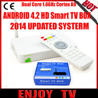 2014 Original New  2nd Android Smart TV Box Dual Core 1.5GHZ Bluetooth 4.0 5G Wifi Internet Media Player Airplay Miracast