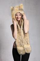 New Women Men Unisex Fashion Novelty Winter Warm Hat With 100% Polyester Faux Fur Cap 4809