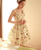 HOT 2014 women summer fashion brand princess dress (with belt) Chiffon Dresses plus size women clothing xt015