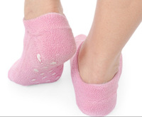 Brand New Soft Spa Gel Socks for beautiful  feet/Moisturizing Treatment Gel Spa Socks-Pink[200633]