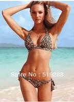 Hot Sale Fashion High quality Woman's Sexy Leopard swimsuit Bikinis set  beach dress Sexy bikini Biquini swimwear Bikini Bra set