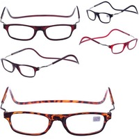 Free shipping Folded Hanging MAGNETIC POWER Round Reading Glasses +1 +1.5 +2 +2.5 +3 +3.5 +4.0 hot selas cheap price