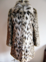 Fashion leopard print fashion quality fox fur medium-long outerwear