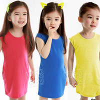2014 summer all-match girls clothing baby child tank dress one-piece dress qz-0868