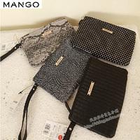Mango women's handbag women's small clutch day clutch mobile phone bag mahjong day clutch cosmetic bag
