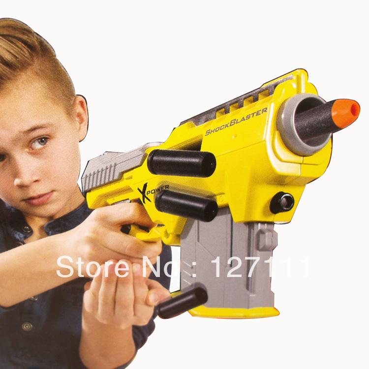 Free shipping Bombshells retreat soft bullet gun toy gun soft bullet gun shock blaster 8pcs bullets German export high quality(China (Mainland))