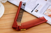 High Quality Fashion Creataive Small Folding Double Slider Hair Comb Travel Portable Make-Up Combs Free Shipping