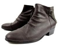 WholesaleSpring pointed shoes high-top shoes men set foot tide Korean men's boots cowboy boots
