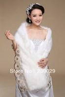 Free Shipping White Or Ivory Wools Wedding Brides Bolero Jacket Free Size Low Price BG057