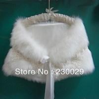 Free Shipping White Or Ivory Wools Wedding Bridal Bolero Jacket Free Size Low Price BG051