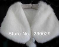 Free Shipping White Or Ivory Wools Wedding Brides Bolero Jacket Free Size Low Price BG060