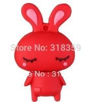 Wholesale custom Cartoon obediently rabbit USB Flash Drive USB 2.0 128m/256m/512m/1gb/2gb/4gb/8gb/16G/32G free shipping