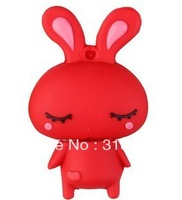 Wholesale custom Cartoon obediently rabbit USB Flash Drive USB 2.0 1/2/4/8/16G/32G free shipping