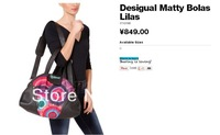 2013 new portable shoulder diagonal 3 desigual canvas handbags