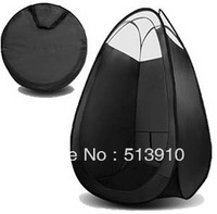 Sunless Black color Spray Tanning tent with plastic window & top in top quality
