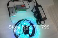 5m DC12V 30leds/m 10pcs ws2811 ic/meter ip66 strip+TH2014-X RF pixel controller+12V/5A power adaptor kit