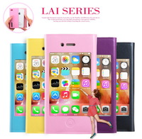 For Apple iPhone 4 4S Kalaideng LAI Series Pretty Big Windows Leather Case For iPhone 4 4S Fashion Leather Case Free Shipping