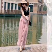 Free shipping!2014 spring summer fashion womenbasic slim beach chiffon tank dress full patck work maxi casual dress A513