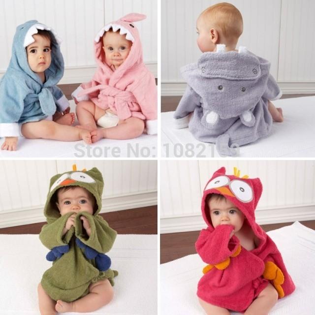 Brand New boy girl Animal Baby bathrobe/baby hooded bath towel/kids bath terry children infant bathing/baby robe ,poncho(China (Mainland))