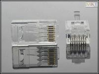 Wholesale (100Pcs/lot) CAT6 RJ45 8P8C Modular Plug Network Connector, Ethernet Plug Jack