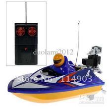 Good!Free shiping! - Fully Operational Miniature R/C Racing Boat - 953 (Blue)(China (Mainland))