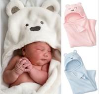 Retail boy girl Animal Baby bathrobe/baby blanket hooded bath towel/kid bath terry children infant bathing/baby robeCoral fleece