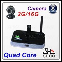 Quad Core android TV box CS918S Allwinner A31 MINI PC 2GB/16GB TV Box Built in 5.0MP Camera Mic Bluetooth RJ45 1080P Full HD