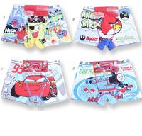 Mix 4 DESIGNS kids underwear,boys underwear,boy's brief,cartoon characters children underwear,boy's boxer short  2pcs /lot