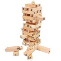 54pcs Jenga small Learning Education wood blocks toy Baby Tumbling Tower Toys Jenga Board Team Game Building Blocks Kids Family