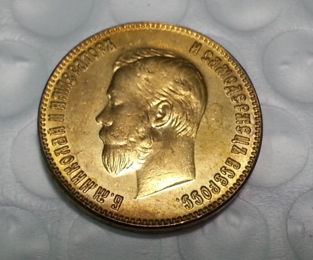 1898 RUSSIA 10 ROUBLE CZAR NICHOLAS II GOLD COIN COPY FREE SHIPPING(China (Mainland))