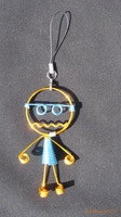 Wholesale 2013 hot sell handmade Robot model pendant Face doll creative toys for Children & adults, free shipping with tracking